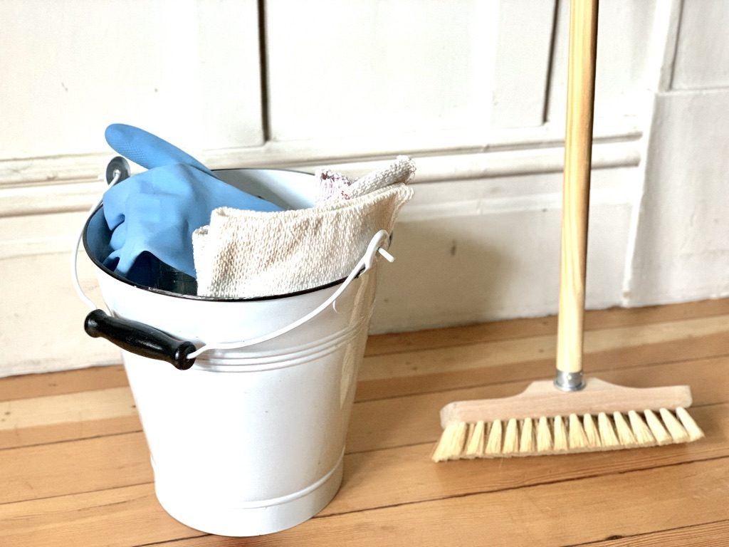 supplies for simple wood floor cleaning