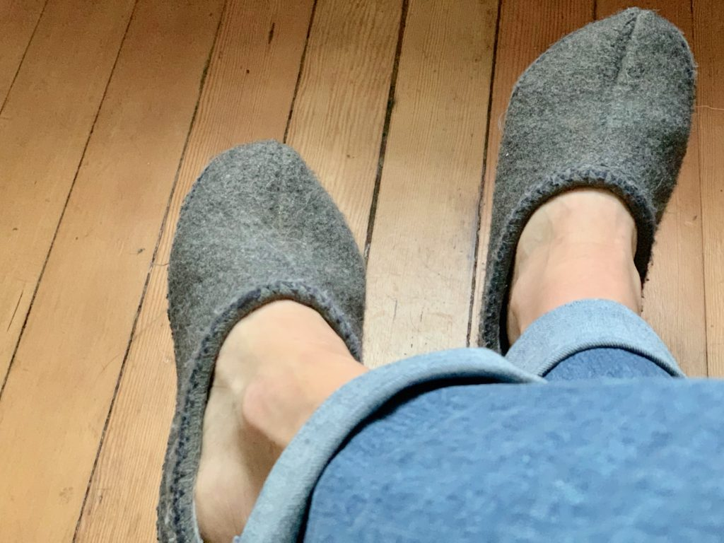 why we wear slippers in the house