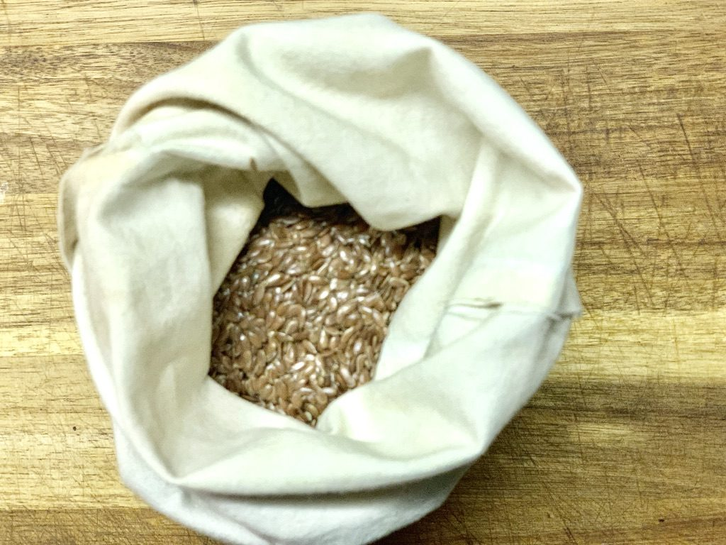 store flax seed in DIY cloth bags