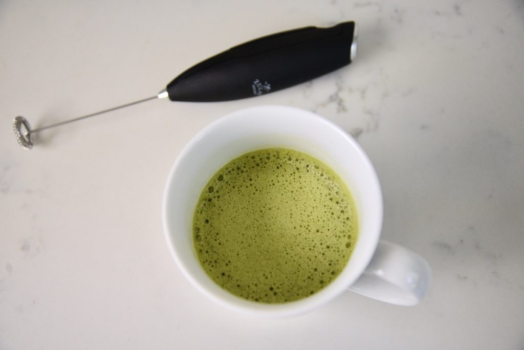 frothed matcha