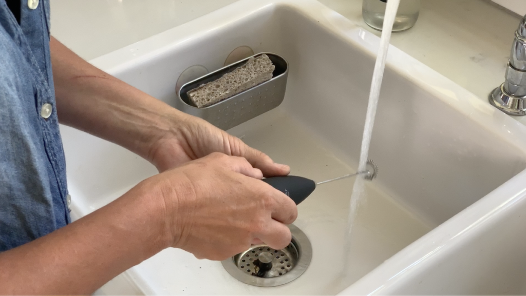 how to clean the milk frother