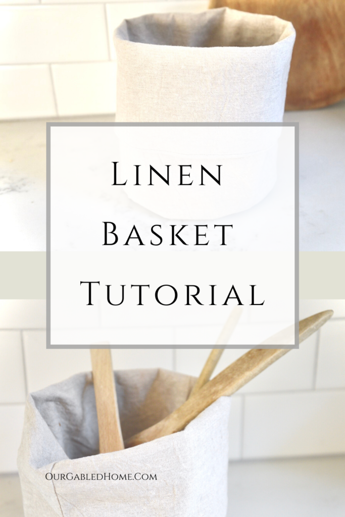How to sew a linen fabric basket with full tutorial