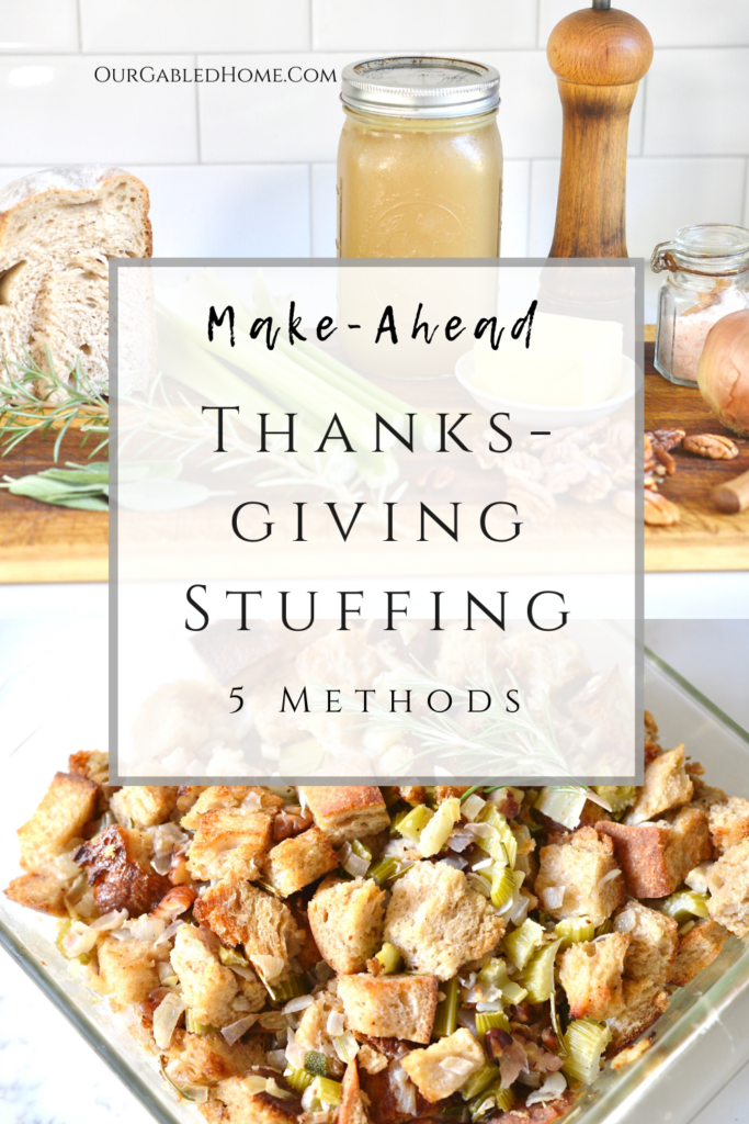 How to make Thanksgiving stuffing ahead - 5 different ways