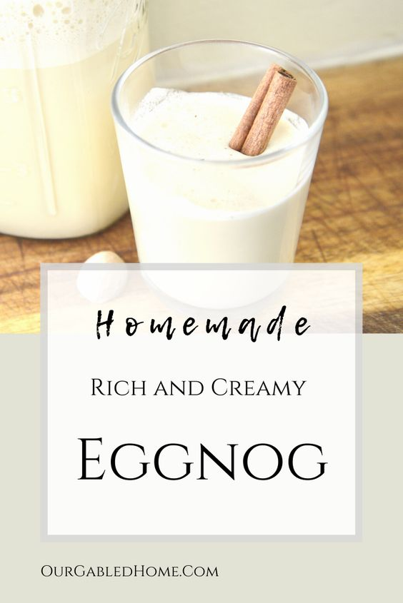 How to make a homemade rich and creamy eggnog with this easy recipe.