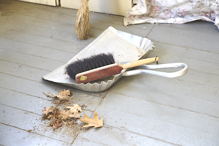 cleaning front porch