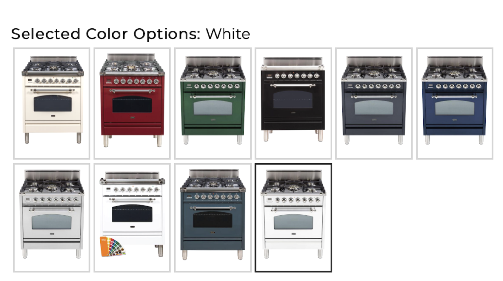 stove colors