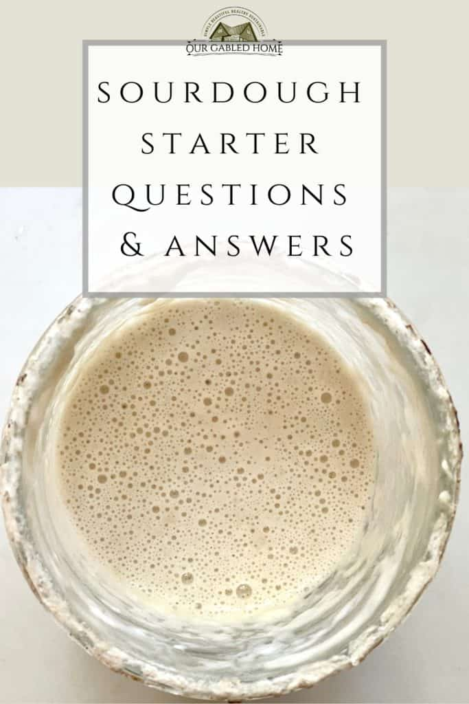 Sourdough starter questions and answers